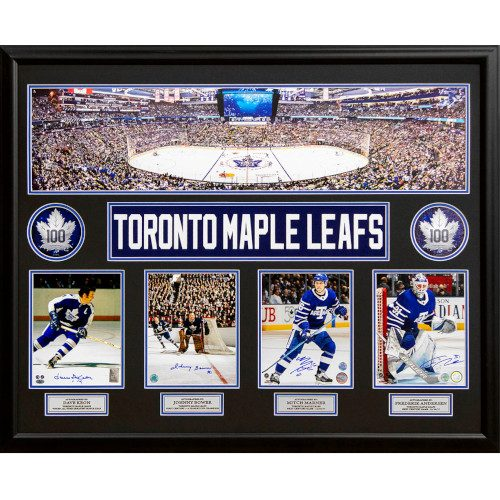 Toronto Maple Leafs 100 Years Keon, Bower, Marner & Andersen Signed Panoramic 44x35 Frame