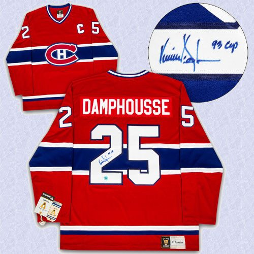 Vincent Damphousse Montreal Canadiens Autographed Fanatics Vintage Hockey Jersey