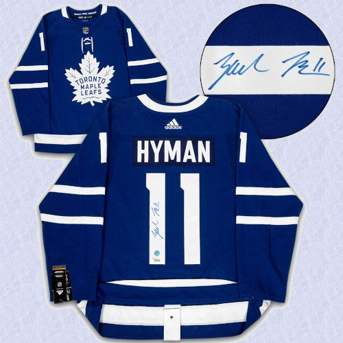 Zach Hyman Toronto Maple Leafs Autographed Adidas Authentic Hockey Jersey