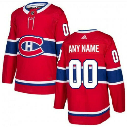 Montreal Canadiens Adidas Authentic Home Jersey Any Name and Number