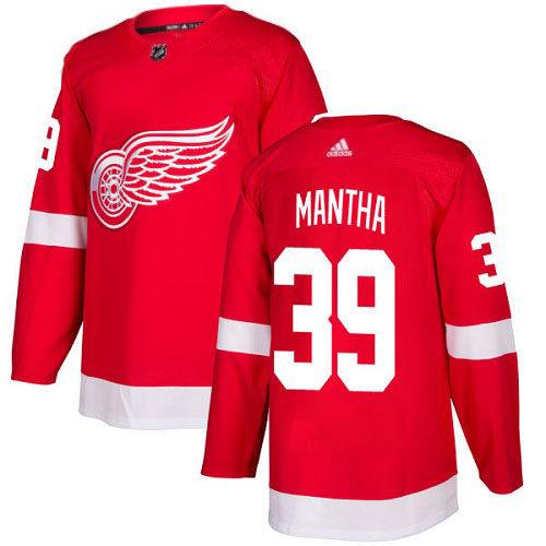 Anthony Mantha Detroit Red Wings Adidas Authentic Home NHL Hockey Jersey