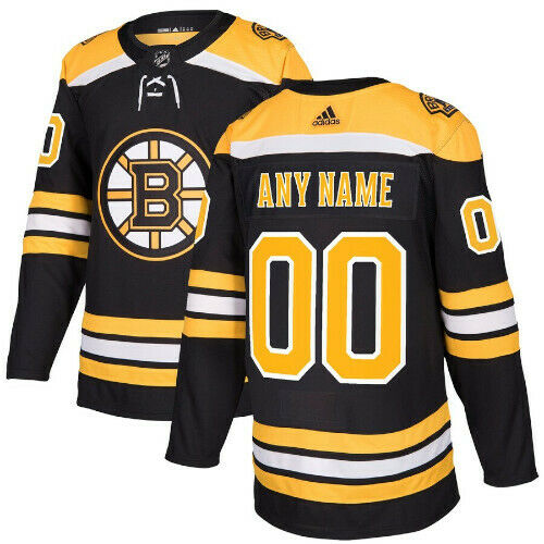Boston Bruins Adidas Authentic Home Jersey Any Name and Number