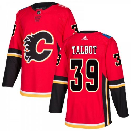 Cam Talbot Calgary Flames Adidas Authentic Home NHL Hockey Jersey