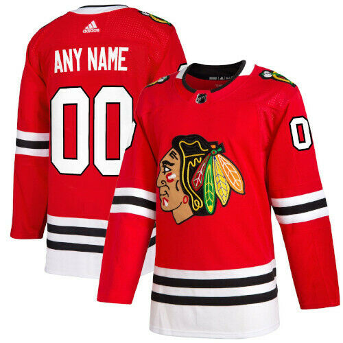 Chicago Blackhawks Adidas Authentic Home Jersey Any Name and Number