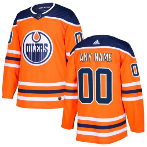 Edmonton Oilers Adidas Authentic Home Jersey Any Name and Number