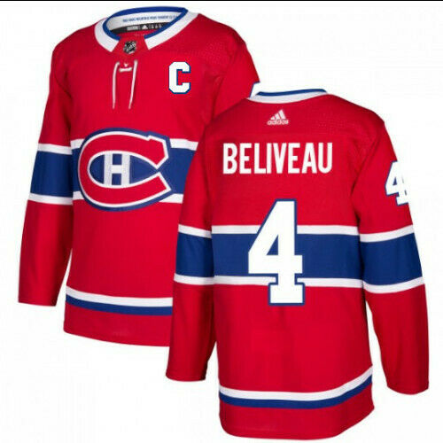Jean Beliveau Montreal Canadiens Adidas Authentic Home NHL Jersey
