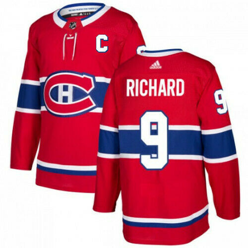 Maurice Richard Montreal Canadiens Adidas Authentic Home NHL Jersey