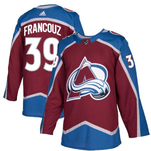 Pavel Francouz Colorado Avalanche Adidas Authentic Home NHL Hockey Jersey