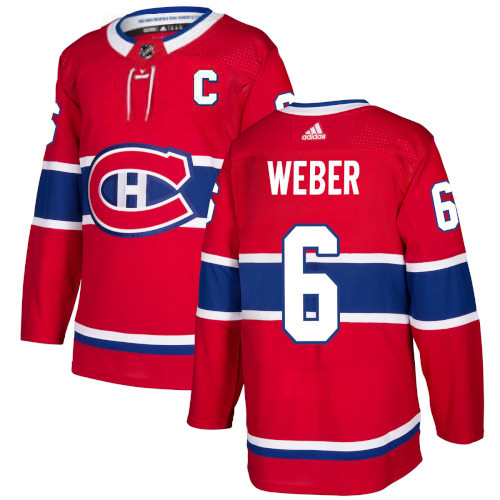 Shea Weber Montreal Canadiens Adidas Authentic Home NHL Jersey