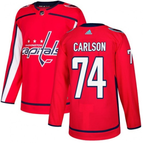 John Carlson Washington Capitals Adidas Authentic Home NHL Hockey Jersey