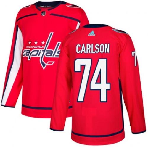 John Carlson Washington Capitals Adidas Authentic Home NHL Hockey Jersey