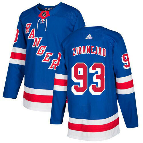 Mika Zibanejad New York Rangers Adidas Authentic Home NHL Hockey Jersey