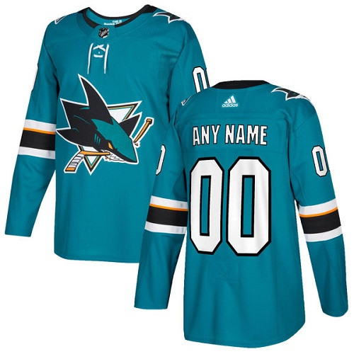 San Jose Sharks Adidas Authentic Hockey Jersey Any Name and Number