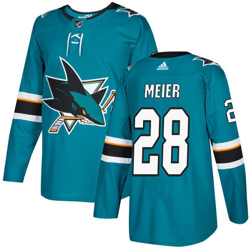 Timo Meier San Jose Sharks Adidas Authentic Home NHL Hockey Jersey