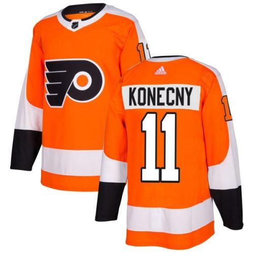 Travis Konecny Philadelphia Flyers Adidas Authentic Home NHL Hockey Jersey