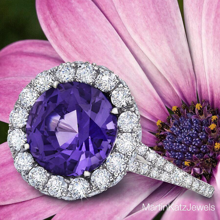 Gorgeous Spinel and Diamond Ring by Martin Katz