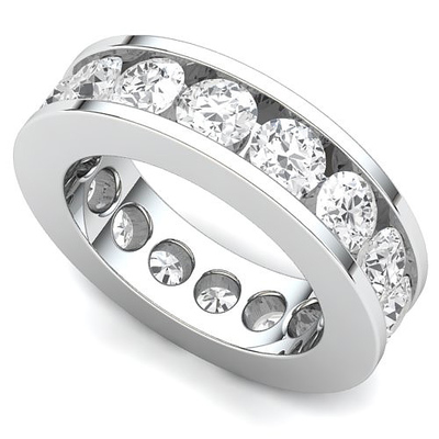 Channel Set Diamond Eternity Ring (4 ct.)