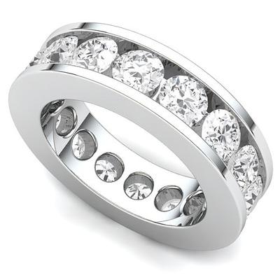 Channel Set Diamond Eternity Ring (4 ct.)
