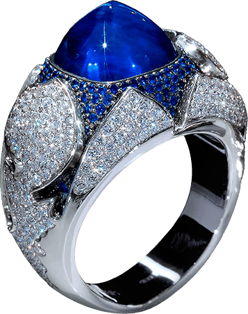 1001 NIGHTS Uniqueness of these rings is in a rare ruby and cabochon-cut sapphire and sweet oriental style. Choose your own jewellery your character & mood - morning or evening, dawn or sunset ...