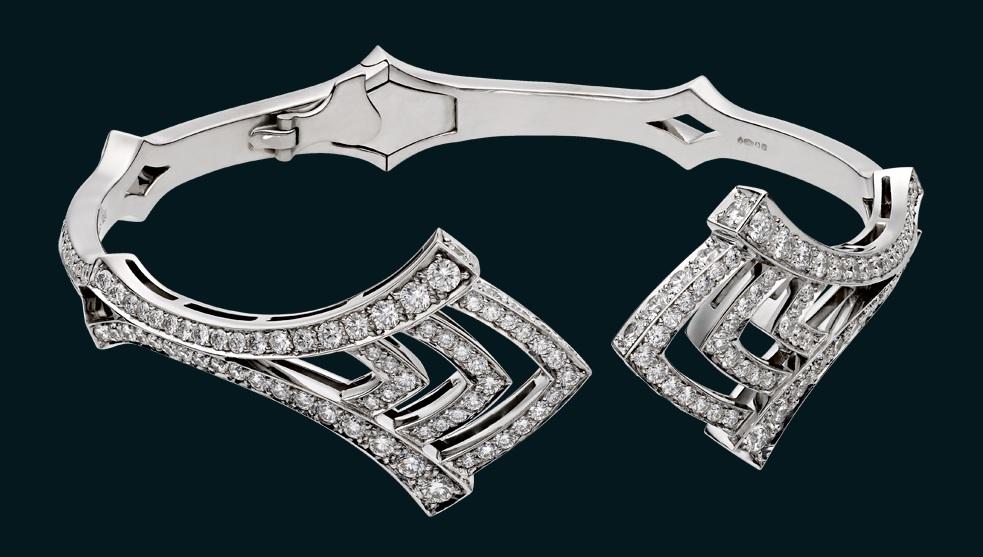 Deco bangle Diamond wt. 3.06ct