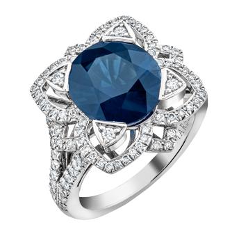 Phoenix Sapphire and Diamond ring