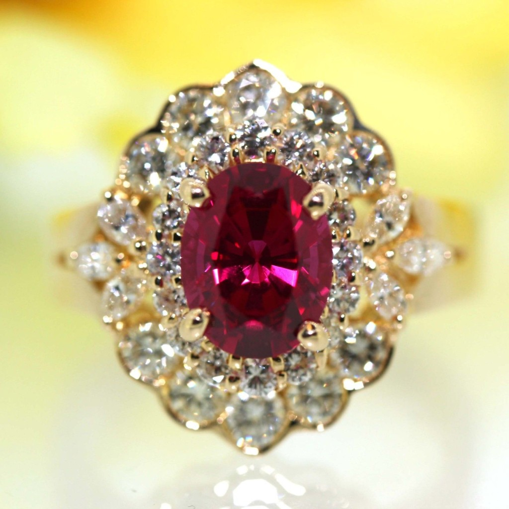 Gorgeous Pink Rose Red Tourmaline Ring