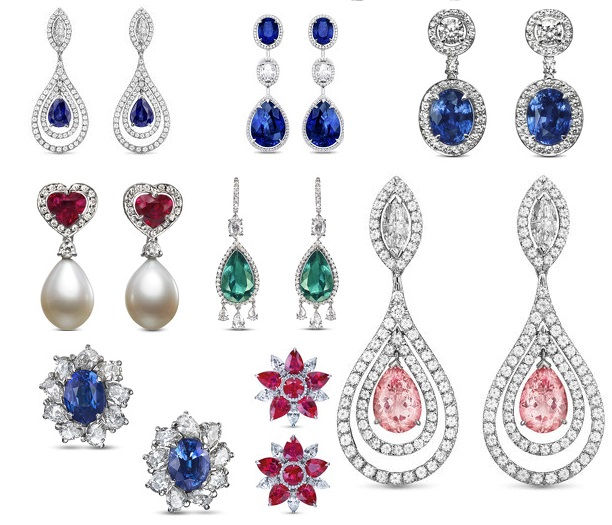 Gorgeous Gemstone Diamond Earrings