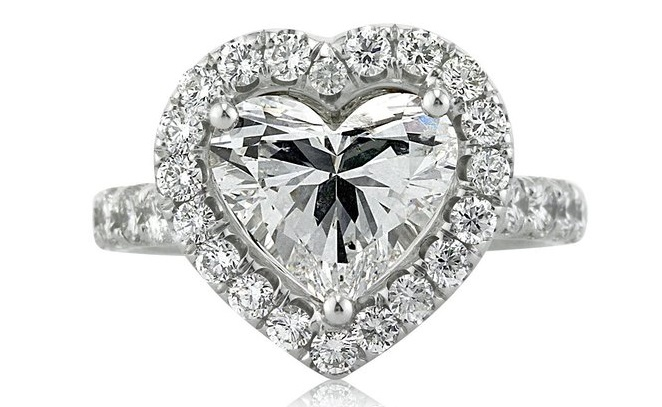5.13ct Heart Shaped Diamond Engagement Ring