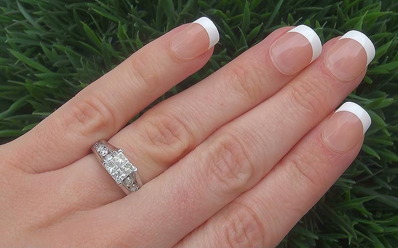 Estate 1.55 ct SI1/G Natural Diamond Engagement Wedding 14k White Gold Ring
