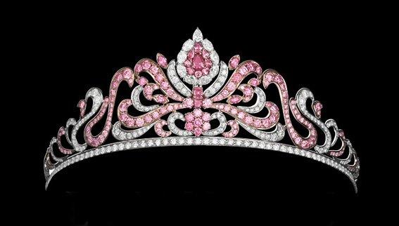 The Argyle Pink Diamond Tiara Displaying 20 Carats of Rare Pink Diamonds