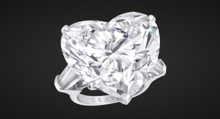 White Heart Shape Diamond Ring by Graff Diamonds