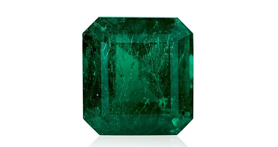 18.85 Carats Green Emerald Loose Gemstone Emerald Cut