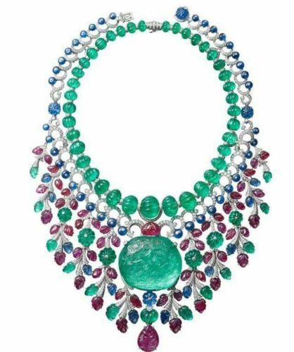 A Gorgeous Cartier High Jewelry Gemstone Platinum Necklace