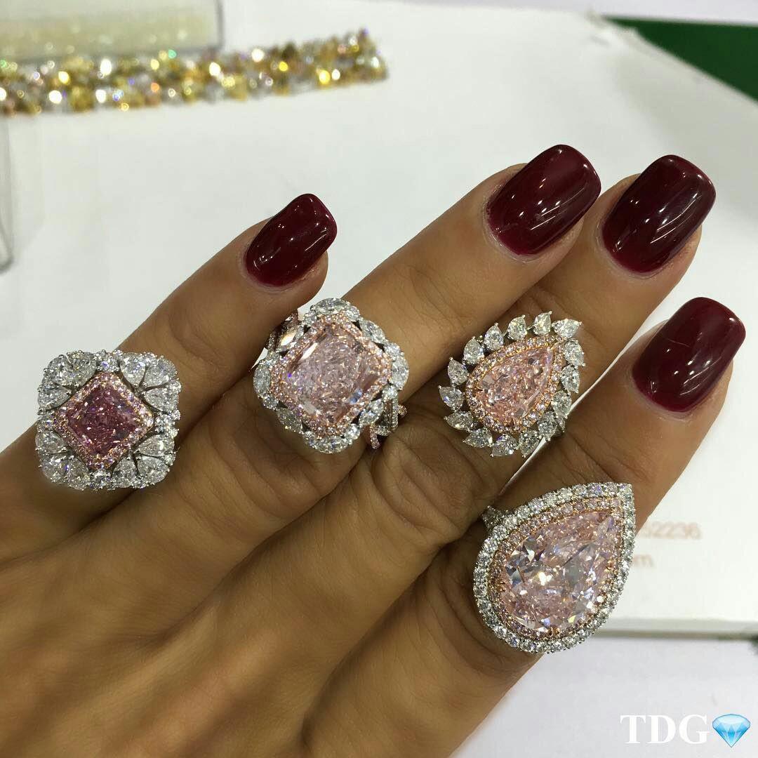 Gorgeous Pink Diamond Rings