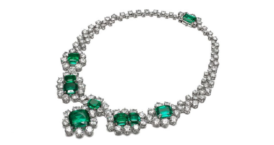 Emerald and Diamond Necklace by Bayco Jewelry