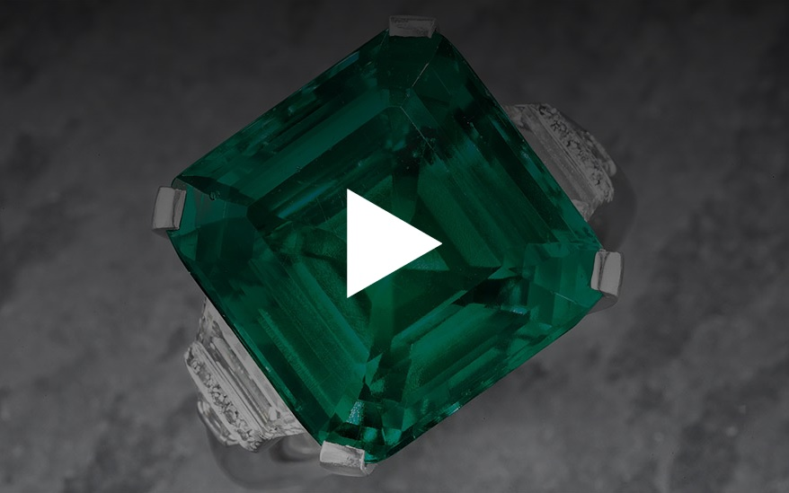 The Rockefeller Emerald: An emerald and diamond ring by Raymond C. Yard