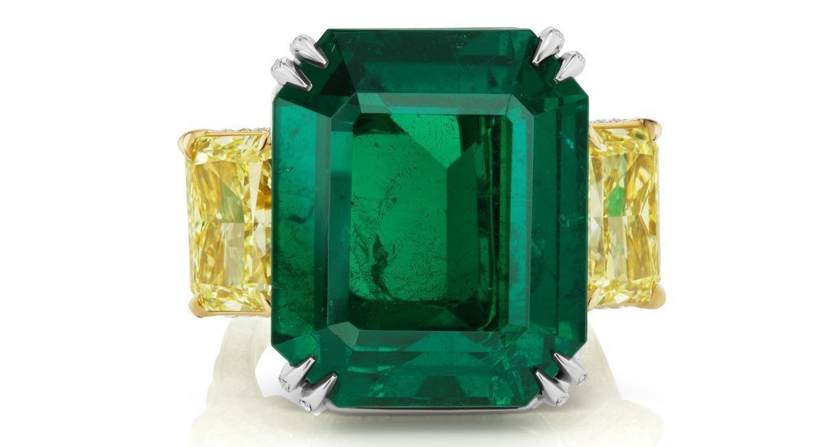Natural 32.59CT Magnificent NO OIL EMERALD AND DIAMOND PLATINUM RING GIA/AGL