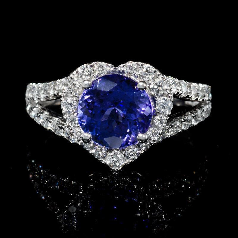 Diamond and Tanzanite 14k White Gold Ring