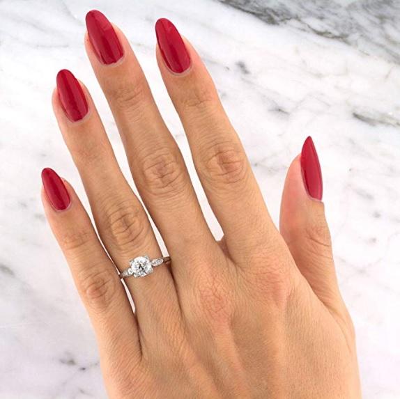 1.47ct Old European Cut Diamond Vintage Engagement Ring