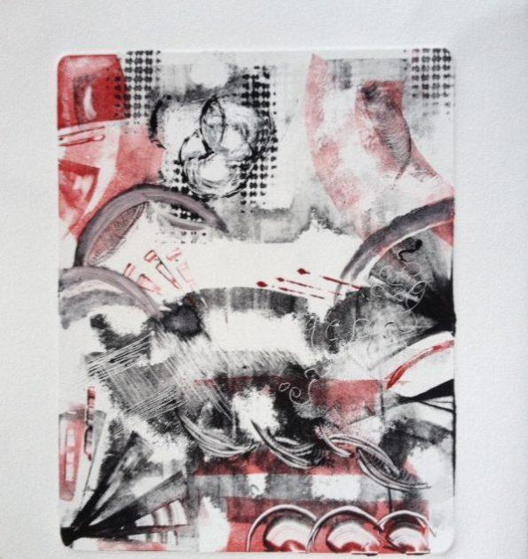 Brigit Elisabeth Eichenberger Oil Monotype Print