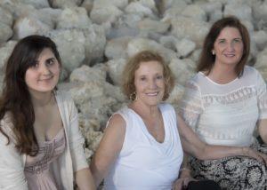 Daughter Sara, Mom and I