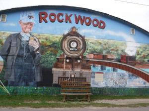 rockwood mural greets visitors