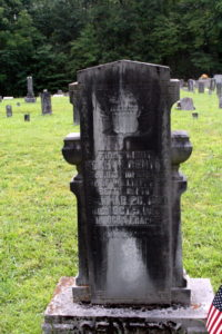 The 3-foot tall headstone of First Lieutenant Gentry