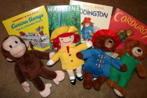 books and matching stuffed animals