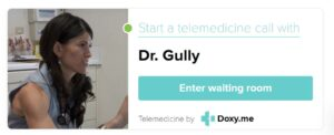 Doxy.me/drgully badge for telemedicine