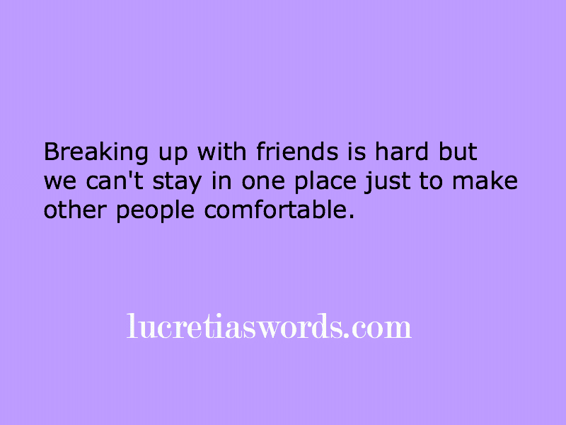 How to survive a friend break-up