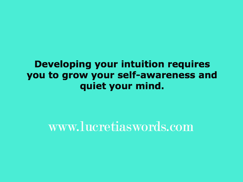 What is intuitive mentoring?