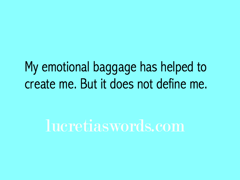 What if your baggage makes you more interesting?