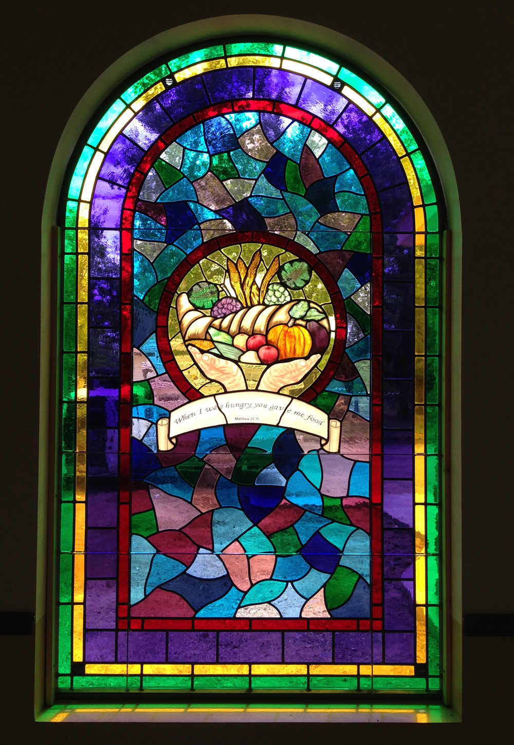 Stained Glass Window At The First United Methodist Church In Brady, Texas