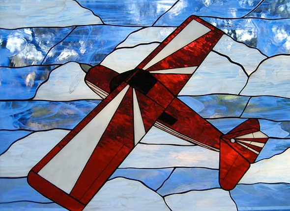Airplane Stained Glass